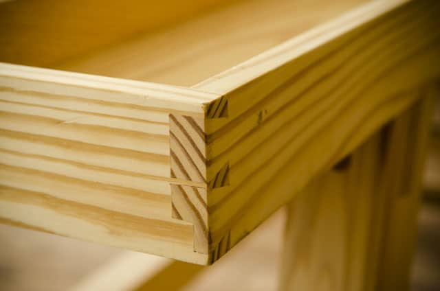Moravian Workbench Plans: The dovetailed tool tray for the Portable Moravian Workbench